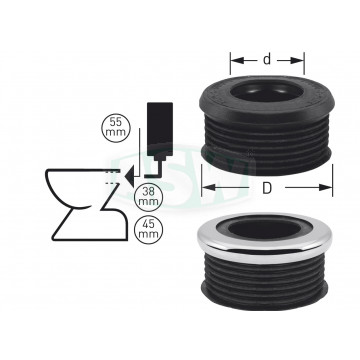 Euro WC-Spülrohrverbinder