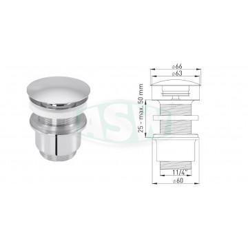 "Design-Ablaufventil 1¼"" x Ø 63 mm"