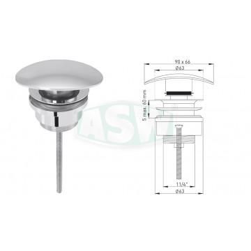"Design-Universalventil 1¼"" x Ø 63 mm"