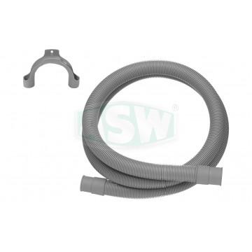 Waschmaschinenablaufschlauch grau