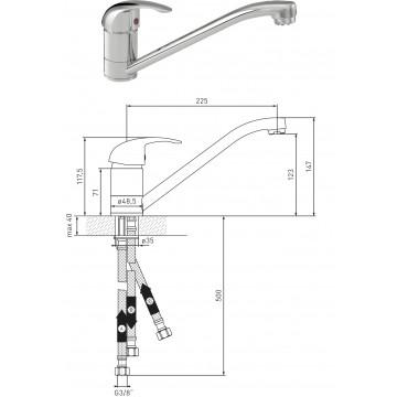 Spültisch-EHM Niederdruck DN 15