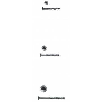 Längsschlitz DIN 95 Messing verchromt