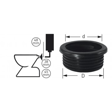 WC-Spülrohrverbinder